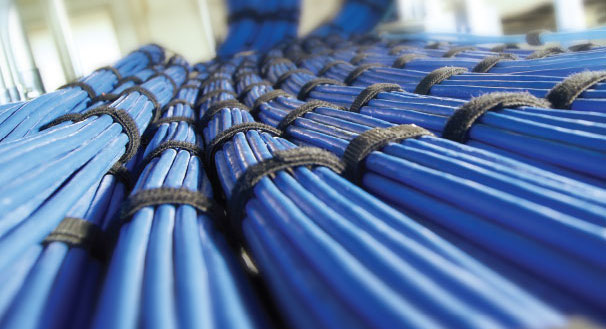structured-cables-blue-tied-bundles